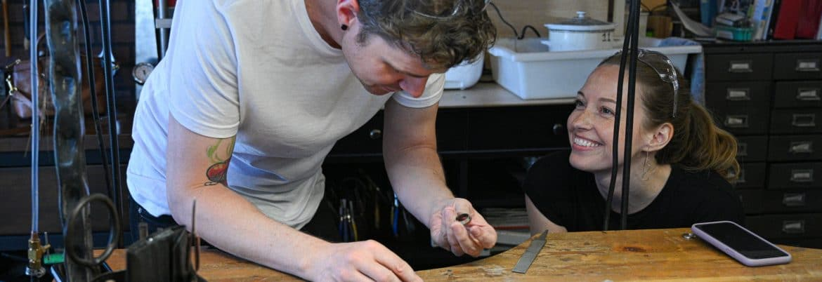 Wedding Ring workshop at Juvelisto School of Metal Arts, Vancouver BC